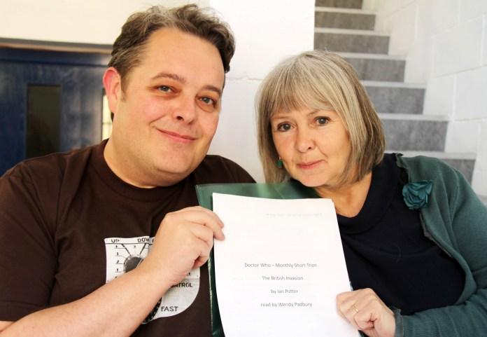 Ian Potter and Wendy Padbury at the recording of The British Invasion
