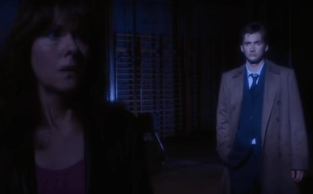 Sarah Jane Smith (Elisabeth Sladen) & The Doctor (David Tennant) - Doctor Who - School Reunion (c) BBC