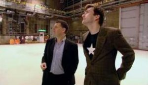 Stephen Moffat and David Tennant - Doctor Who Confidential c) BBC