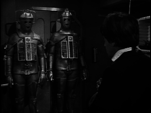 The Doctor (Patrick Troughton) and the Cybermen - Doctor Who - The Wheel in Space (c) BBC