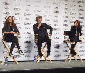 Michelle Gomez, Peter Capaldi and Jenna Coleman - Fan Expo Dallas