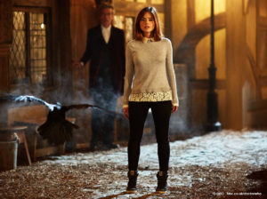 Clara (Jenna Coleman) and the Doctor (Peter Capaldi) - Doctor Who - Face the Raven (c) BBC