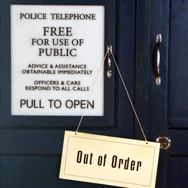 TARDIS Out of Order (c) BBC