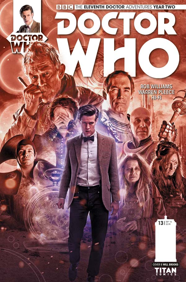 Titan Comics Doctor Who: Eleventh Doctor #2.13 Cover B: Will Brooks Photo