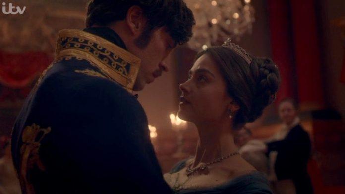 Prince Albert (TOM HUGHES) and Victoria (JENNA COLEMAN) - Victoria (ITV)