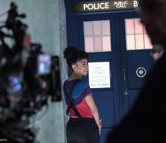 Pearl Mackie Behind the Scenes on Doctor Who series 10 (c) BBC