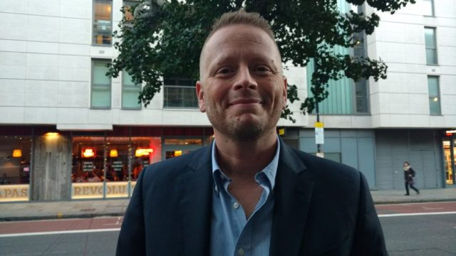 Creator and Writer Patrick Ness- Class Premiere Photo by Mat Greenfield