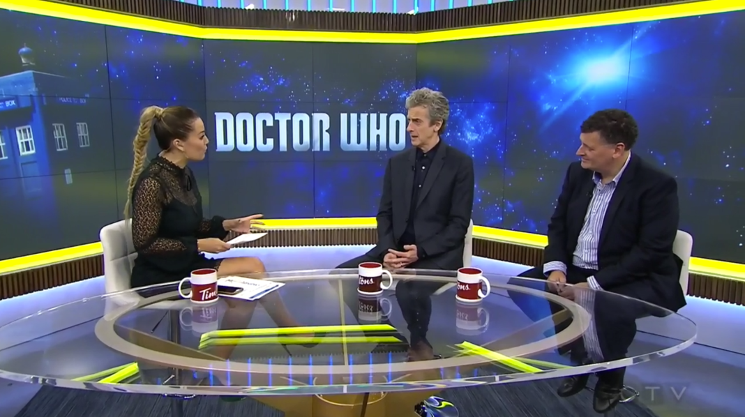 Melissa Grelo, Peter Capaldi and Steven Moffat - Your Morning CTV - Toronto Canada