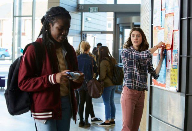 Class - Ep1 (No. 1) - Picture Shows: (L-R) Tanya (VIVIAN OPARAH), April (SOPHIE HOPKINS) - (C) BBC - Photographer: Simon Ridgeway