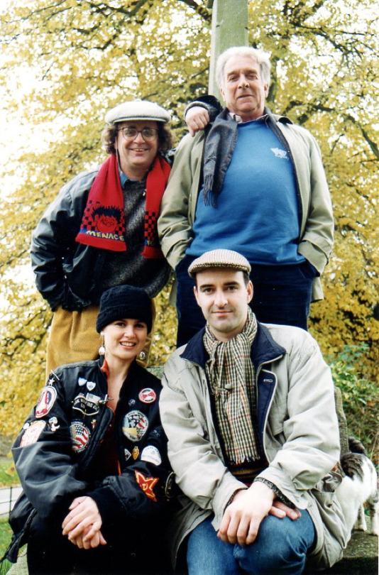 Sylvester McCoy, Nicholas Courtney, Sophie Aldred and Nicholas Briggs (c) Reeltime Pictures Ltd