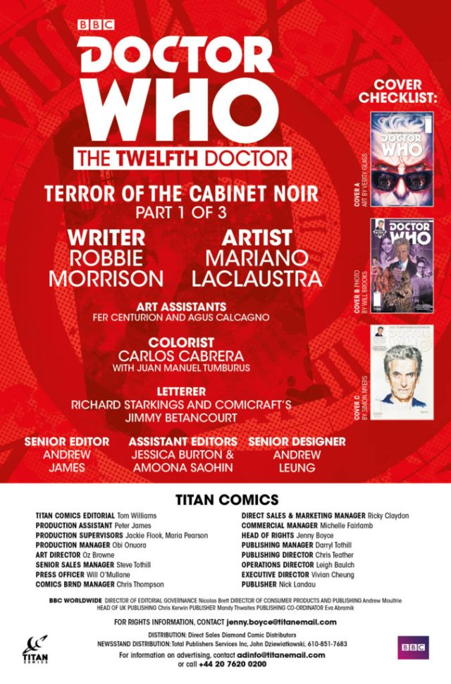 DOCTOR WHO: THE TWELFTH DOCTOR YEAR TWO #11 Credits