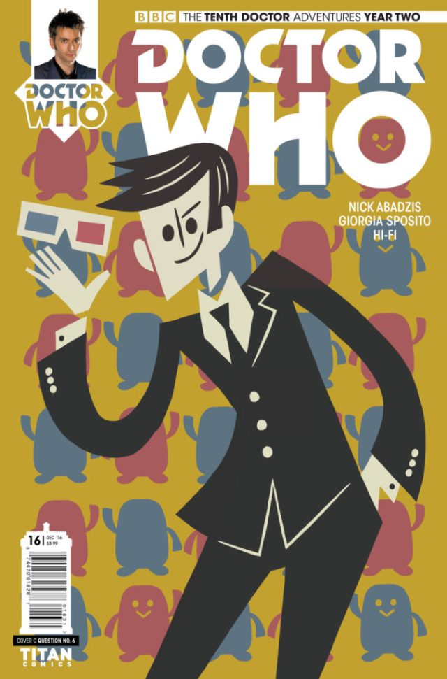 TITAN COMICS TENTH DOCTOR #2.16 COVER C BY QUESTION NO. 6