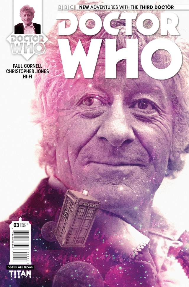 TITAN COMICS - THIRD DOCTOR #3 COVER B BY WILL BROOKS