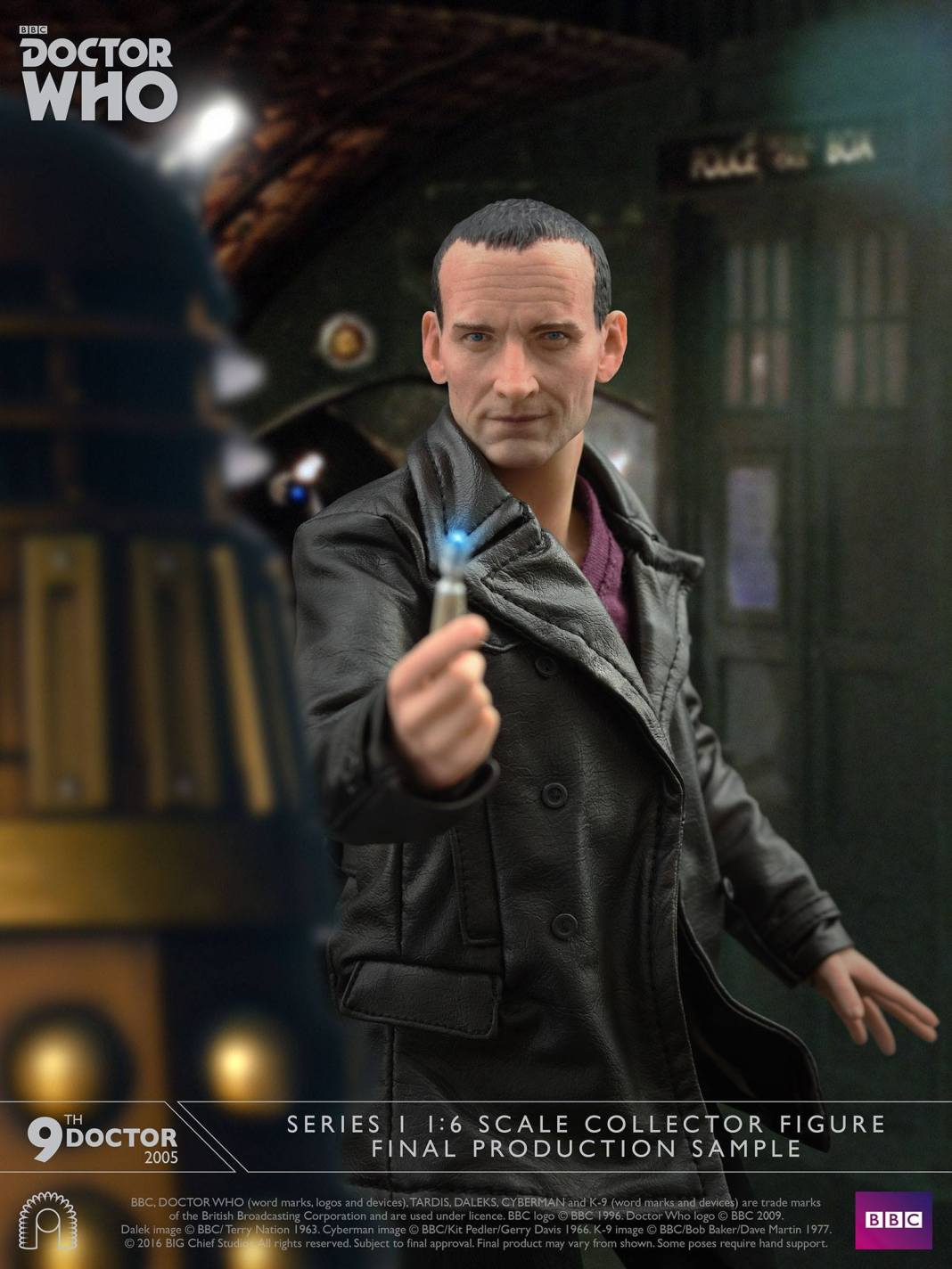 9th Doctor Series 1 - 1:6 Scale Figurine (c) Big Chief Studios