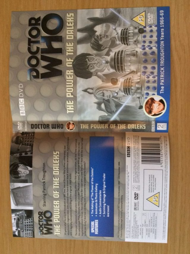 THE POWER OF THE DALEKS DVD SLIP COVER