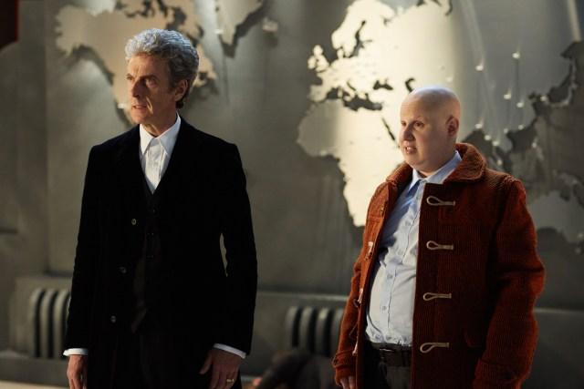Doctor Who Xmas Special 2016 - The Doctor ( Peter Capaldi) Nardole (Matt Lucas) - BBC - Photo: Simon Ridgway