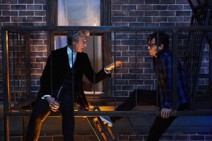 Doctor Who Xmas Special 2016 - Peter Capaldi as the Doctor and Justin Chatwin as Grant - BBC - Photo: Simon Ridgway