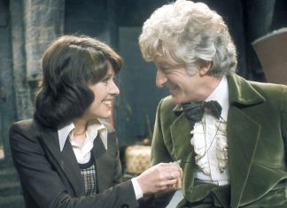 Elisabeth Sladen and Jon Pertwee - Doctor Who -The Time Warrior (c) BBC