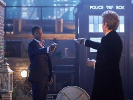 Doctor Who Xmas Special 2016 - Adetomiwa Edun as Mr. Block and Peter Capaldi as the Doctor - BBC - Photo: Simon Ridgway
