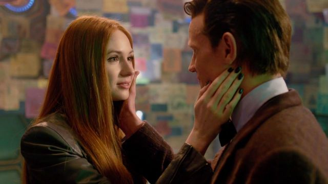 Karen Gillan as Amy Pond, Matt Smith as The Doctor - BBC The Time of The Doctor - (c) BBC