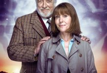 Sarah Jane Smith (ELISABETH SLADEN) & The Brigadier (NICHOLAS COURTNEY) - The Sarah Jane Adventures (c) BBC