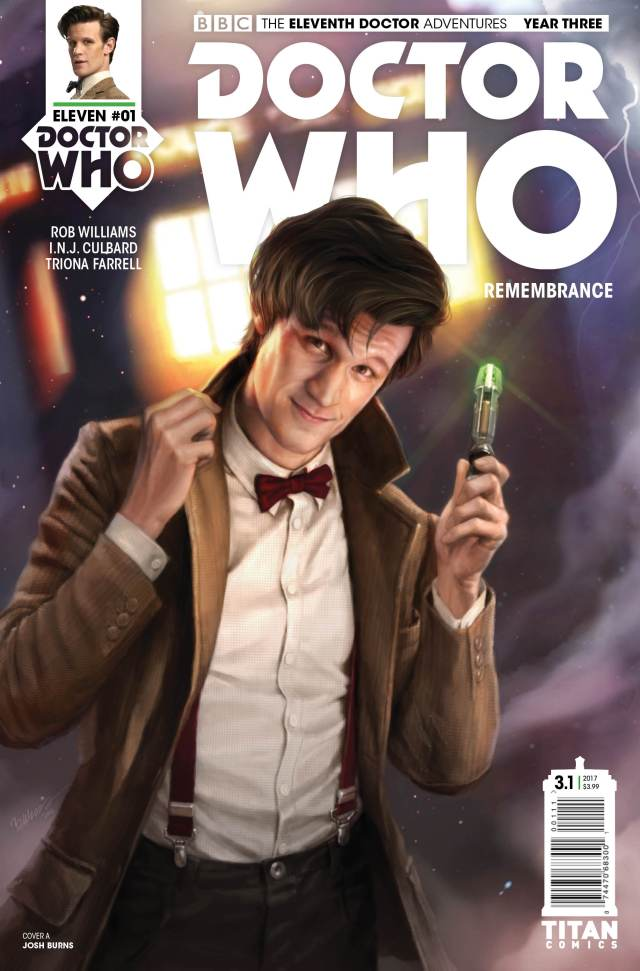 TITAN COMICS - DOCTOR WHO ELEVENTH DOCTOR YEAR THREE #1 - COVER A JOSH BURNS