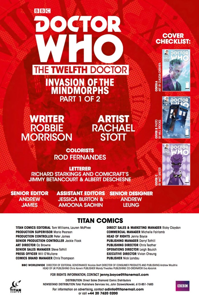 TITAN COMICS - DOCTOR WHO TWELFTH DOCTOR #2.14 - CREDITS