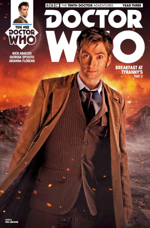TITAN COMICS – TENTH DOCTOR 3.2 COVER B BY WILL BROOKS