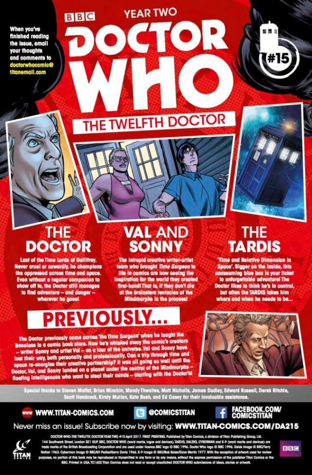 TITAN COMICS - Doctor Who: Twelfth Doctor #2.15 - CREDITS