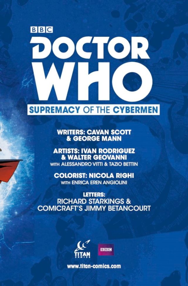 TITAN COMICS - DOCTOR WHO: EVENT 2016 - SUPREMACY OF THE CYBERMEN - CREDITS