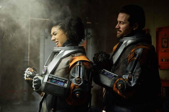 Doctor Who S10 - TX: 13/05/2017 - Episode: Oxygen (No. 5) - Picture Shows: Bill (PEARL MACKIE), Ivan (KIERAN BEW) - (C) BBC/BBC Worldwide - Photographer: Simon Ridgway