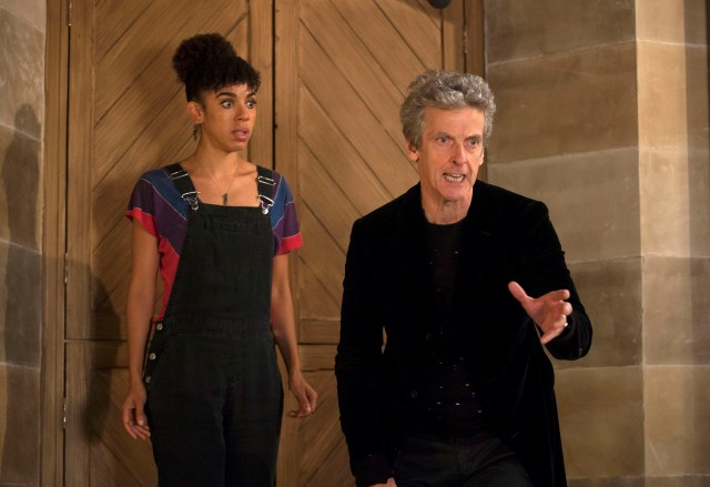Doctor Who - Knock Knock - Bill (PEARL MACKIE) The Doctor (PETER CAPALDI) - (C) BBC/BBC Worldwide - Photographer: Jon Hall