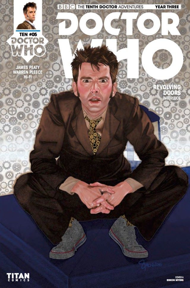 TITAN COMICS - TENTH DOCTOR YEAR THREE #5 COVER A: SIMON MYERS