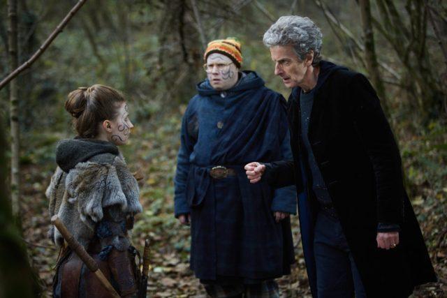 Doctor Who S10 - The Eaters of Light (No. 10) - Kar (REBECCA BENSON), Nardole (MATT LUCAS), The Doctor (PETER CAPALDI) - (C) BBC/BBC Worldwide - Photographer: Simon Ridgway