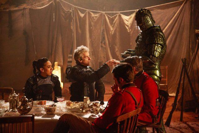 Doctor Who S10 - Empress of Mars (No. 9) Bill (PEARL MACKIE), The Doctor (PETER CAPALDI), Catchlove (FERDINAND KINGSLEY), Godsacre (ANTHONY CALF), Friday (RICHARD ASHTON) - (C) BBC/BBC Worldwide - Photographer: Simon Ridgway