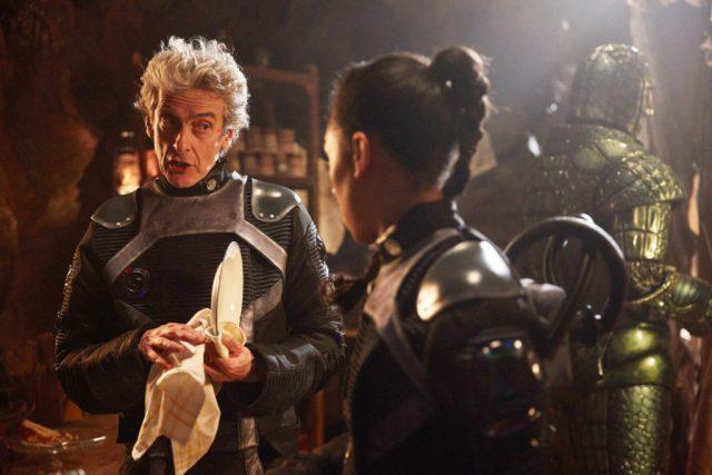 Doctor Who S10 - Empress of Mars (No. 9) The Doctor (PETER CAPALDI), Bill (PEARL MACKIE), Friday (RICHARD ASHTON) - (C) BBC/BBC Worldwide - Photographer: Simon Ridgway