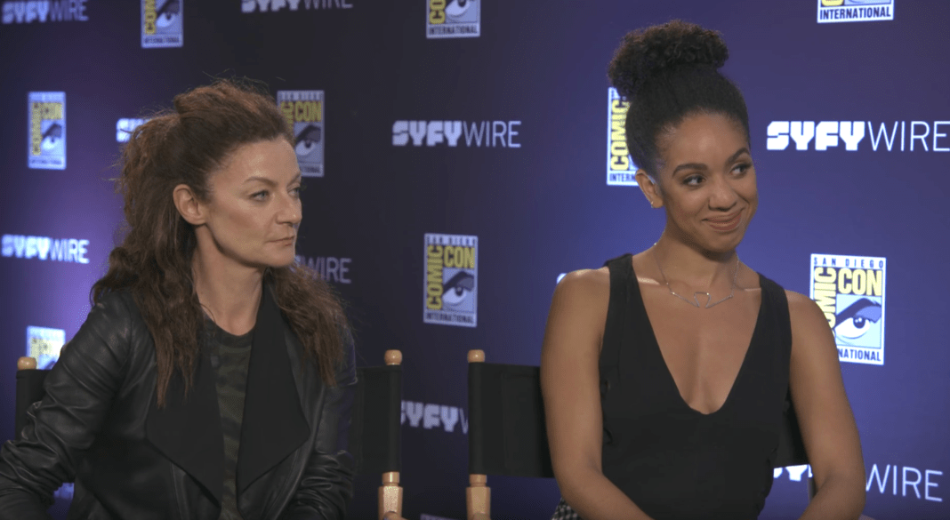 Michele Gomez (Missy and Pearl Mackie (Bill) - San Diego Comic Con 2017