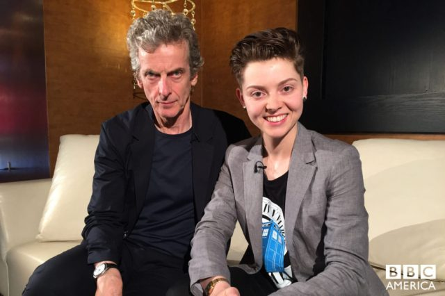 Peter Capaldi and Christel Dee © BBC America