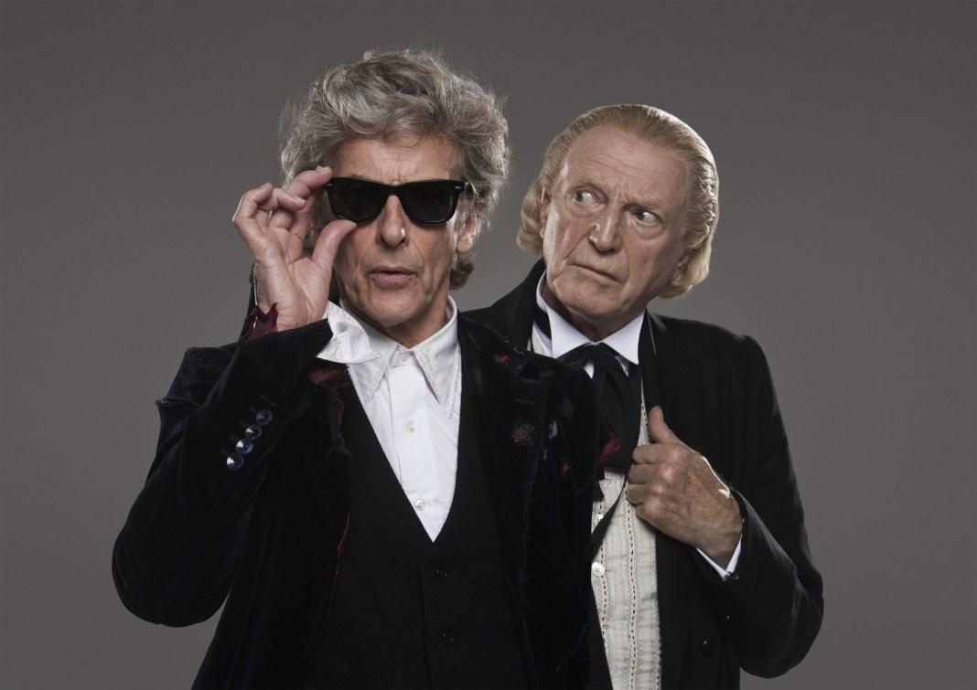 Peter Capaldi (The Doctor) and David Bradley (The Doctor) - (c) BBC