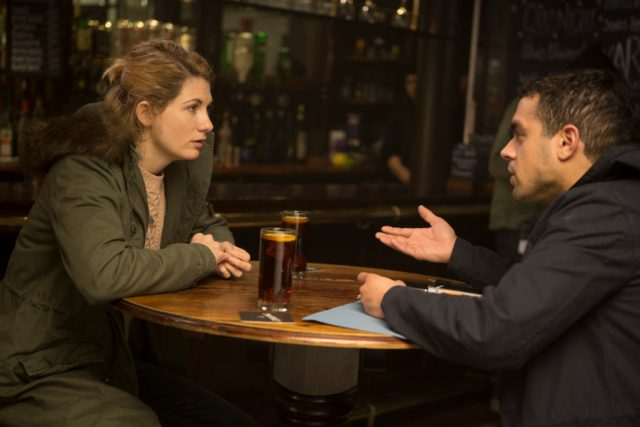 Trust Me - Ep1 - Picture Shows: Ally (JODIE WHITTAKER), Sam Kelly (NATHAN WELSH) - (C) Red Productions - Photographer: Mark Mainz