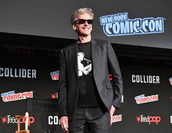 Peter Capaldi speaks onstage during the 2017 New York Comic Con on October 6, 2017 in New York City.