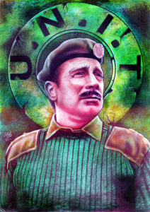 The Brigadier Lethbridge-Stewart painting by Richard Young