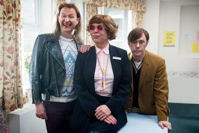 The League of Gentlemen Anniversary Specials - Mickey (MARK GATISS), Pauline (STEVE PEMBERTON), Ross (REECE SHEARSMITH) - (C) BBC - Photographer: James Stack