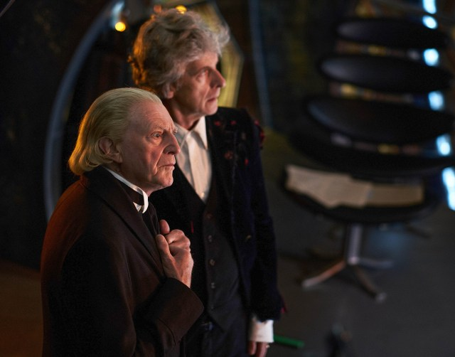 Doctor Who - Once Upon a Time - The First Doctor (DAVID BRADLEY), The Doctor (PETER CAPALDI) - (C) BBC/BBC Worldwide - Photographer: Simon Ridgway