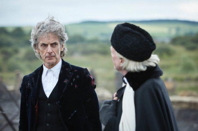 The Doctor (PETER CAPALDI), The First Doctor (DAVID BRADLEY) - (C) BBC/BBC Worldwide - Photographer: Simon Ridgway