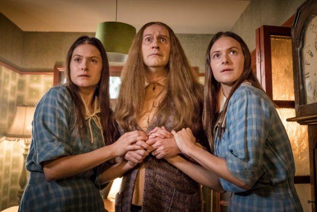 The League of Gentlemen Anniversary Specials - Chloe (FRANCESCA KNIGHT), Auntie Val (MARK GATISS), Radclyffe (LILY KNIGHT) - (C) BBC - Photographer: Ben Blackall
