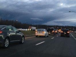 Circulation dense sur l'autoroute 20 Ouest à Lévis