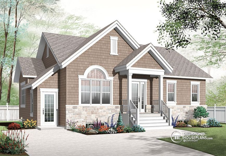 House plans with basement apartment   Drummond Plans house plans with basement apartment