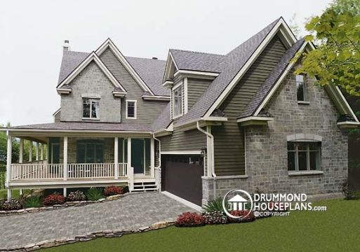 Wraparound porch house with photos   Drummond House Plans Blog Wraparound porch house with photos