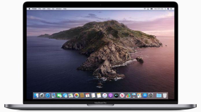 MacBook Pro d'Appel avec macOS Catalina